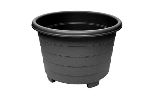 Grosvenor Round Planter - 39cm Ebony